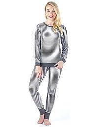 Sleepyheads Women's Sleepwear Long Sleeve Striped Knit Pajama Set