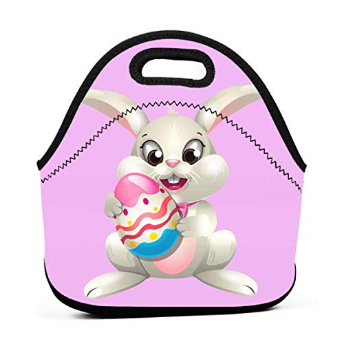 FFOOD Powder Egg Tart Portable Outdoor Bento Large Hand Lunch Bag Baby Bag Satchel Tote Gift for Student Worker Travel Mummy ()