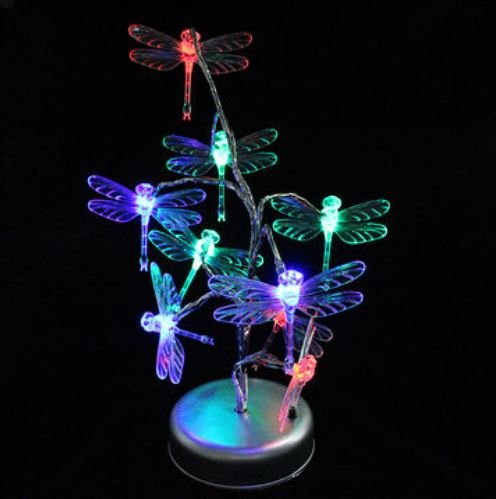 LED Tree Branch Dragonfly Night Light Multicolor Decorative Table Lamp by ShopIdea ()