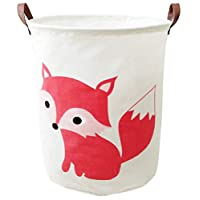 BOOHIT Storage Baskets,Canvas Fabric Laundry Hamper-Collapsible Storage Bin with Handles,Toy Organizer Bin for Kid