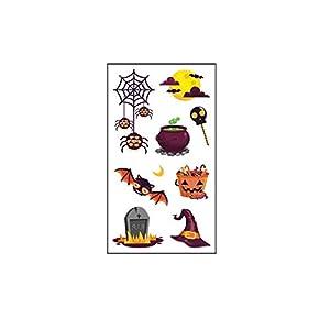 1 Sheet Cartoon Halloween Stickers for Kid Fake Tatoo Children Hallowmas Body Art Water of Temporary Sticker 105 * 60mm