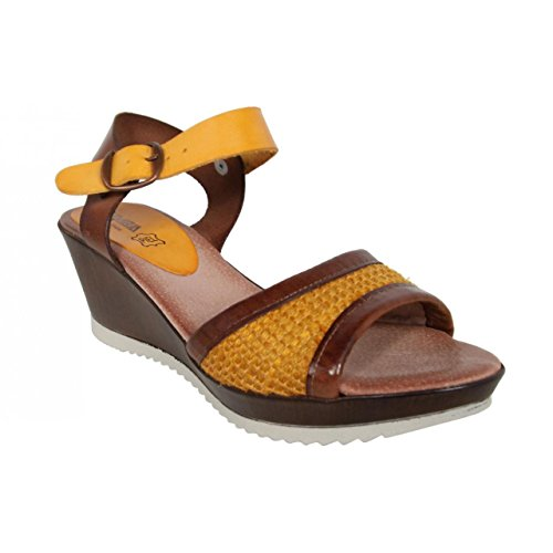 Zapatos de cuña de Mujer CUMBIA 30158 AMARILLO
