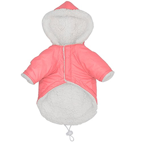 Winter Dog Clothes for Small Dogs Pet Puppy Quilted Dog Clothing Windproof Dog Coat Jacket Roupas Para Pink M -
