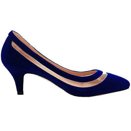 MERUMOTE - Zapatos de tacón fino Mujer Azul - Blau-Wildleder