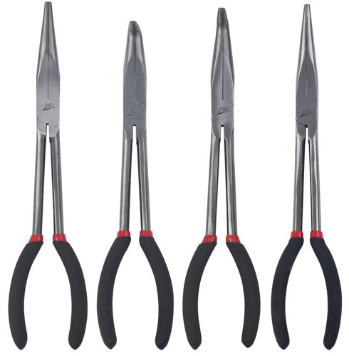 ATD Tools (814 11'' 4-Piece Needle Nose Pliers Set