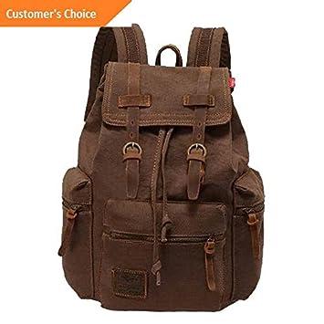 Kaputar Mens Vintage Canvas Backpack Travel Rucksack Camping Satchel School Bag Bookbag Model BCKPCK 376