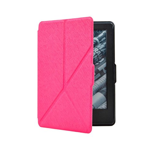 Price comparison product image 2016 Kindle Cover, TOOPOOT Smart Slim Magnetic Case For 2016 Amazon Kindle (8th Generation) 6inch (hot pink)