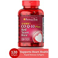 Puritan's Pride Q-Sorb CoQ10 Plus Red Yeast Rice-120 Rapid Release Softgels