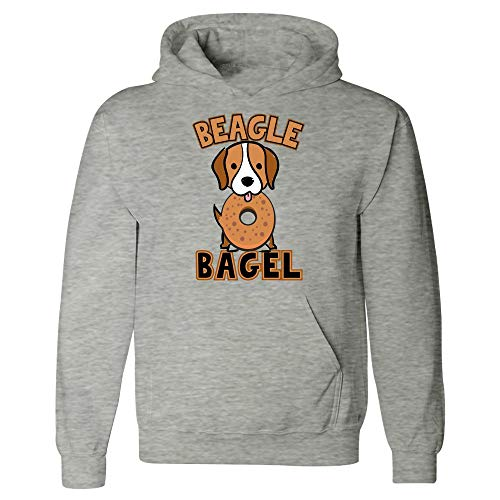 Funny Bagel - Beagle Dog - Cream Cheese Butter Lox Humor - Hoodie Beagle Dogs Mens Hoodie