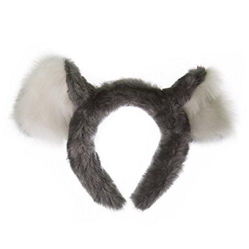 Wildlife Tree Plush Koala Bear Ears Headband Accessory for Koala Costume, Cosplay, Pretend Animal Play or Safari Party (Koala Costume Kids)