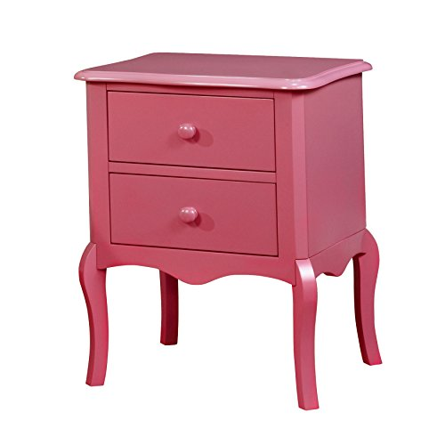 HOMES: Inside + Out IDF-AC325PK Edna Nightstand Childrens, Pink by HOMES: Inside + Out