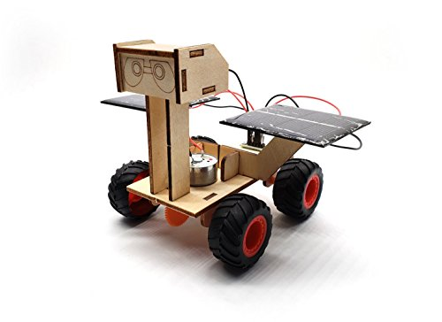 Wood Solar Car - DIY Assemble Toy Set Solar Powered Car Kit Science Educational Environment-friendly Toys Stem Toy for Boys Girls Kids Students 8 years up