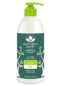 Nature's Gate Tea Tree Moisturizing Lotion for Irritated, Distressed Skin, 18-Ounce Pump Bottle