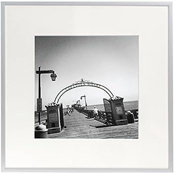Amazon.com - Frametory, 8x8 Aluminum Silver Picture Frame - Metal ...