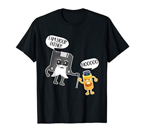 Computer Nerd Shirt Funny USB Floppy Disk Humor T-shirt (Sql Developer The Network Adapter Could Not Establish)