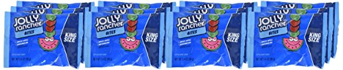 JOLLY RANCHER Chewy Candy Bites, Halloween Candy, Green Apple, Watermelon, King Size (Pack of 12) by Jolly Rancher (Image #1)