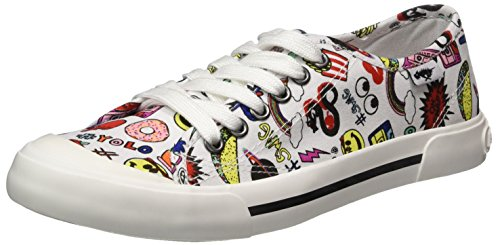 Jumpin Rocket Sneaker Donna Multi Dog Multicolour White 55ZOgR