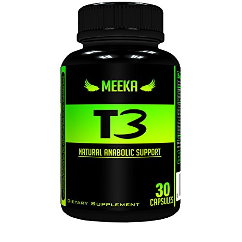 Meeka Nutrition - All Natural Testosterone Booster - Naturally Supports Testosterone, Strength, Size, Energy, and Lean Muscle Mass. DHEA, Vitamin B-6, Zinc, Tribulus & More.