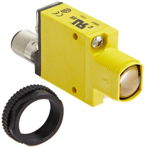 Banner SM31RLQD Mini Beam Photoelectric Sensor, Opposed Mode Receiver, 4-Pin Euro-Style QD Connector, Infrared LED, 10-30 VDC Supply Voltage, Bipolar (NPN and PNP) Output, 30 m Sensing Range ()