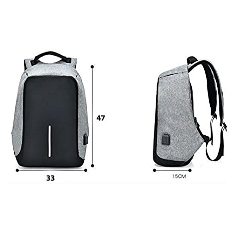 Bagzar Anti-Theft Backpack Water Resistant Travel with External 3.5 mm  Audio Jack and USB Charging Port Special Laptop Protection Section Suitable  for ... 6dd75d53fc6c4