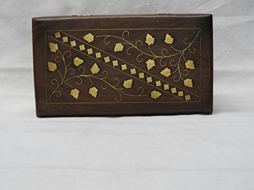 The Indian Arts Wooden Handcrafted Square Shaped Jewelery Box by The Indian Arts