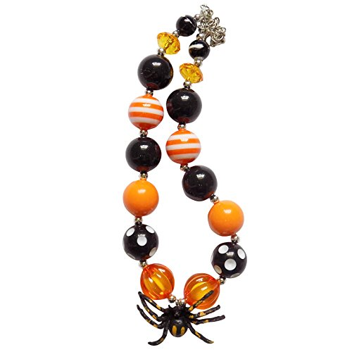 Jewellery Sydney Costume (So Sydney Baby Toddler Little Girl Holiday Chunky Bubblegum Bead Beaded Necklace (Halloween Spooky)