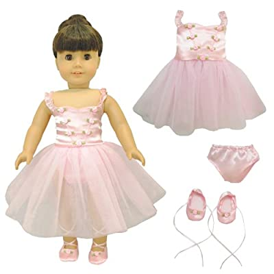 Pink Butterfly Closet Ballet Ballerina Dance Dress for 18-inch Dolls from Pink Butterfly Closet