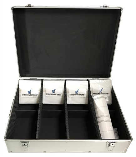 CheckOutStore Silver Aluminum CD/DVD Storage Box (Holds 1000 Discs) ()