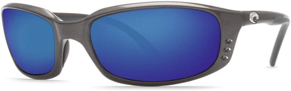 Costa Del Mar Men's Brine Polarized Oval Sunglasses, Gunmetal/Grey Polarized-580P, 59 mm