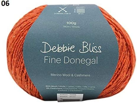 100g Debbie Bliss Fine Donegal 4ply 95/% Wool /& 5/% Cashmere