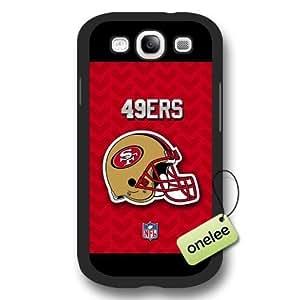 Personalize NFL San Francisco 49ers Logo Frosted Black Samsung Galaxy S3(i9300) Case Cover - Black WANGJING JINDA