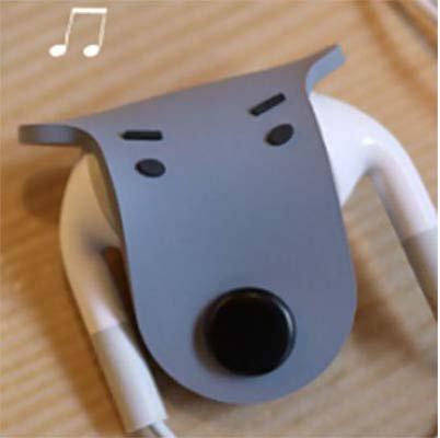 Porta filo per speaker MP3, iPod e iPhone, motivo Cane/Grigio