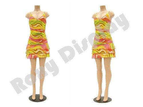 (PS-FF202) ROXY DISPLAY Headless Plastic Female Mannequin Brazilian Hips & Legs, Flesh Tone, w/out -