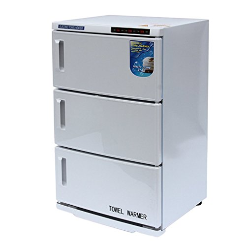 GOGOUP 48A Hot Towel Warmer Cabinet, UV Sterilizer(46L, 2 in 1), Disinfection Machine Sanitizer Cabinet Equipment for Beauty/Salon/ Spa/Hair Use