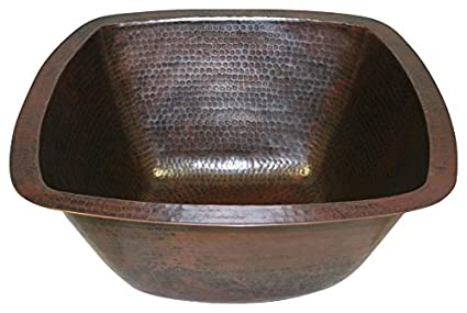 15 Square Hand Hammered Copper Bar Sink By SimplyCopper