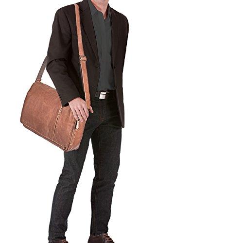 STILORD Borsa Messenger in pelle vintage per PC 15,6 pollici Borsa per università ed ufficio Borsa da lavoro College bag marrone chiaro