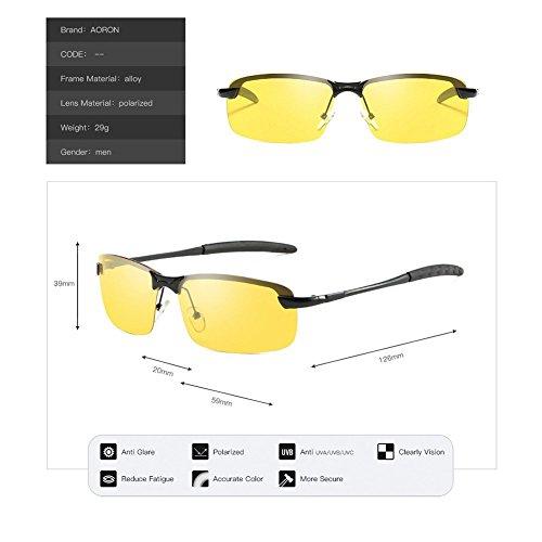 Polarizadas UV Deportivas HECHEN Protección Esquí Alpinismo Gafas Ciclismo Unisex para Pesca Gafas WxHgWan