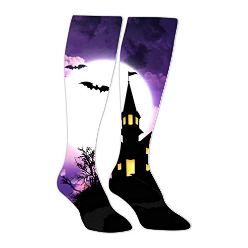 Knee High Stockings Halloween Background Long Socks Sports Athletic for Man and Women