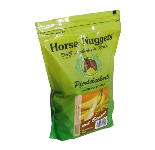Horse Nuggets® Pferdeleckerli - 1kg Beutel - mit Banane