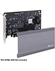 Syba Dual M.2 NVMe Ports to PCIe 3.0 x16 Bifurcation Riser Controller - Support Non-Bifurcation Motherboard (SI-PEX40129)