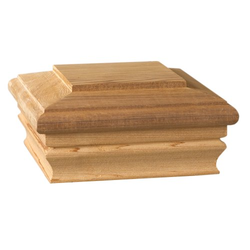 Deckorators 72262 Newport Classic Cedar Post Cap Cedar Fence Posts