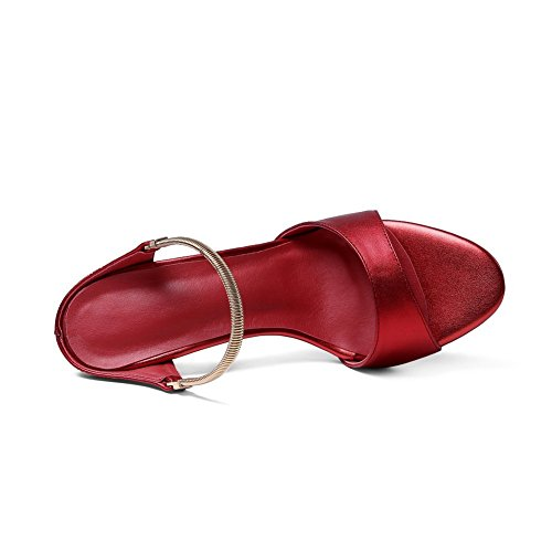 Ladies Pull Slippers on Soft Red High Heels BalaMasa Material dFqHAx