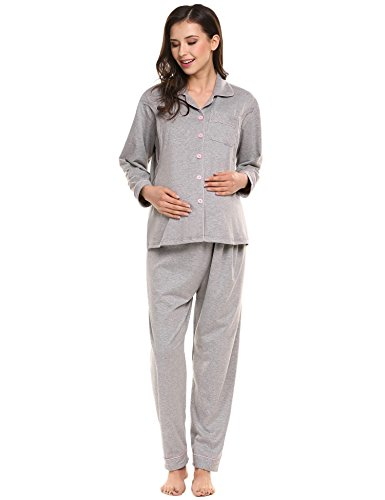 696a95062a5d8 Ekouaer Maternity Nursing Breastfeeding Sleepwear product image