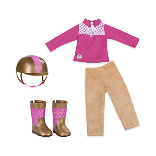 Battat Glitter Girls by Ride and Shine Deluxe Equestrian Outfit - 14 inch Doll Clothes and Accessories for Girls Age 3 and Up – Children's Toys -