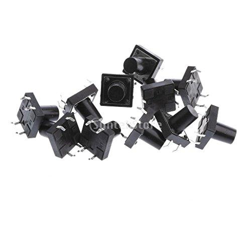 約12x12x5mm PCBマウント モーメンタリ プッシュボタン 触覚タクトスイッチ 高精度機構設計