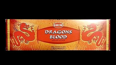 - DRAGONS BLOOD 25 Boxes of 8 = 200 HEM Incense Sticks Bulk Case Retail Display