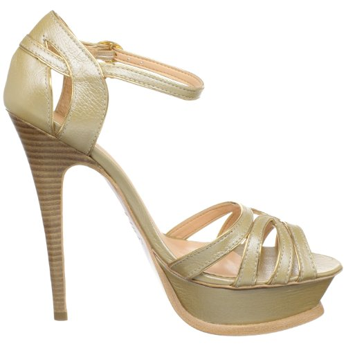 Luiza Barcelos Femmes Qv0053 Sandale Metalic Dourado