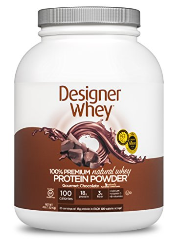 DESIGNER WHEY 100% Premium Whey Protein Powder, Gourmet Chocolat, 64 once Container