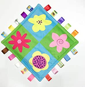 Coloured baby comfort towel emotional comfort grip soft cloth toys