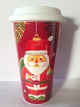 Costa Coffee Father Christmas Ceramic Travel Mug Tumbler